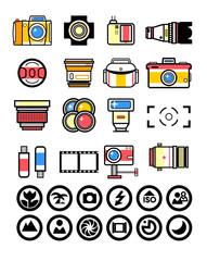 Photographer kit, camera elements