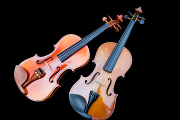 close-up violin