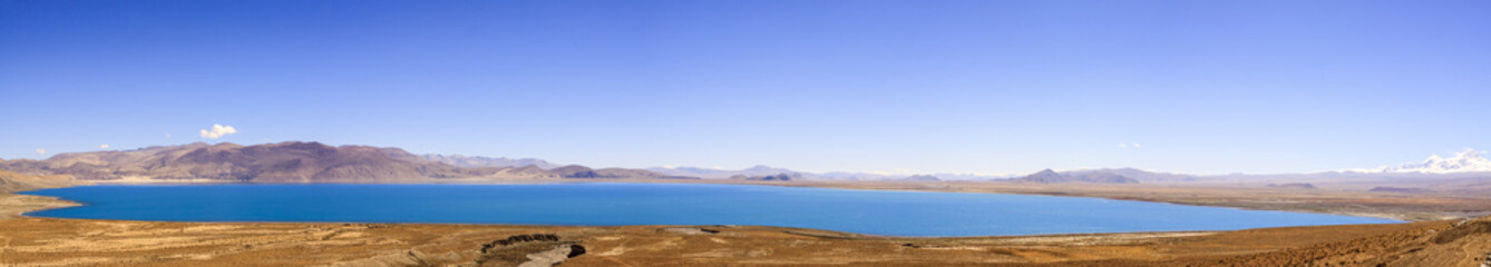 Lake with blue sky