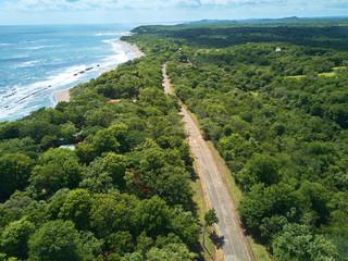 Foto op Aluminium Luchtfoto Pacific ocean coastline aerial view