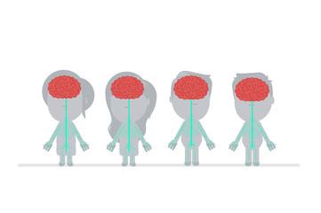 Human body anatomy vector illustration