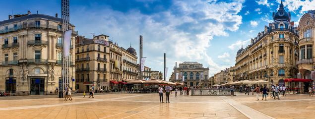 Place de la Comédie à Montpellier, Hérault, Languedoc en Occitanie, France