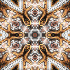 Intricate fractal machine, digital artwork for creative graphic