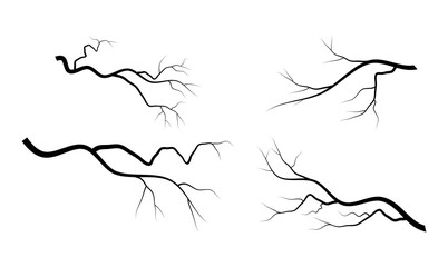bare branch set vector symbol icon design.