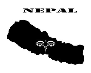 Symbol of  Nepal and map