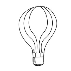Light bulb illustration on a white background.Black and white color line art