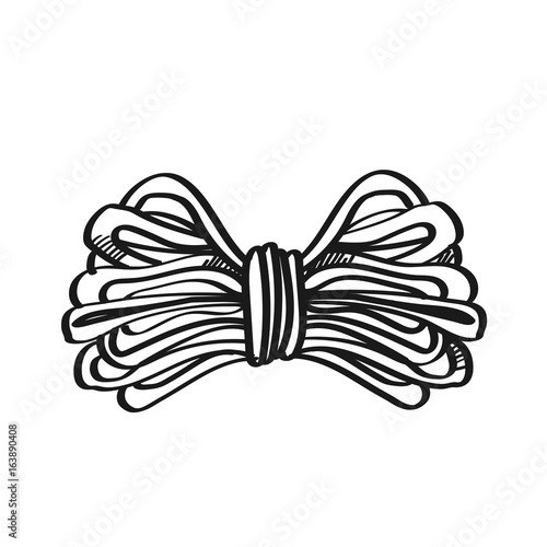 Rope Illustration On A White Background Black And White Color Line