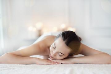 Woman in spa salon