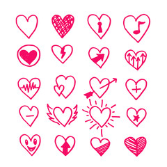 heart hand draw icon