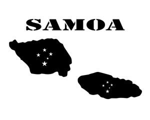 Symbol of Isle of Samoa and map