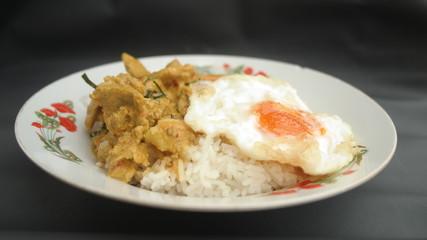 Curry Rice Chicken Pork Fish Egg