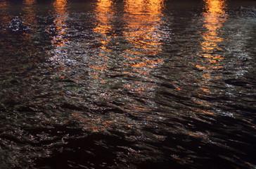night river, dark water. background, texture.