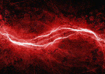 Red lightning, abstract electrical background