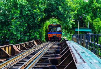 Railroad in Thailand. train