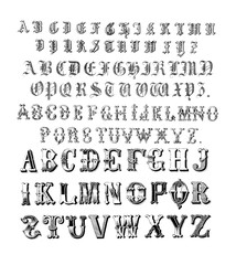The old fonts. Collections