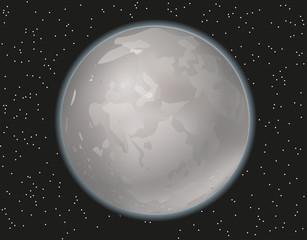 Full moon vector illustration.