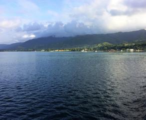 Scene of Alotau Harbour, Milne Bay Province, Papua New Guinea.