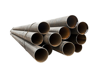 Round metal pipe