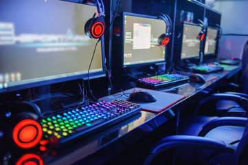 games computer online in internet cafe ,esports concept