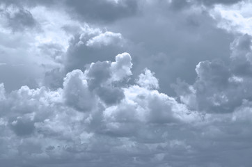 large grey clouds background