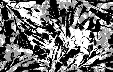 Black and white shattered glass texture