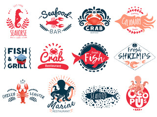 Seafood Creative Emblems Collection