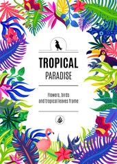 Tropical Paradise Frame Background Poster
