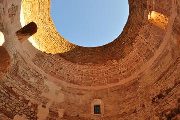 Interior vestibule of the Diocletian's palace in Split, Croatia