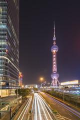 Shanghai Pudong city center at night
