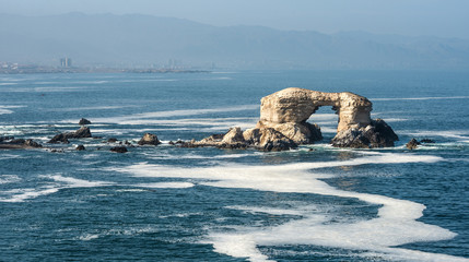 Portada (Arch) Rock Formation, Chilean Coastline, La Portada National Reserve, Antofagasta, Chile