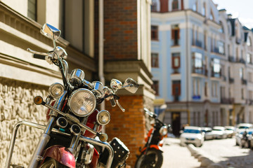 Motorcycles classic tone of the film.