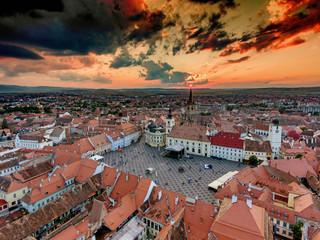 Sunset in Sibiu Hermannstadt Romania