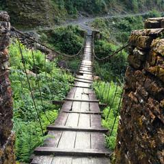 A wooden bridge in himalaya