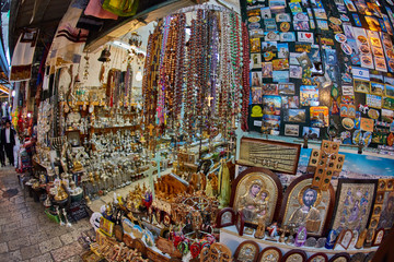 Jerusalem - 04.04.2017: Jerusalem store interior