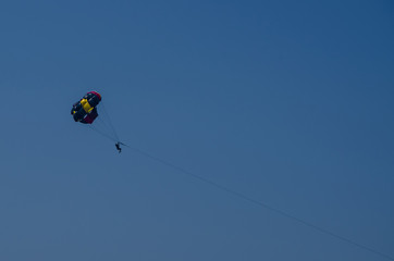 Fly in parachutes and observe the landscape