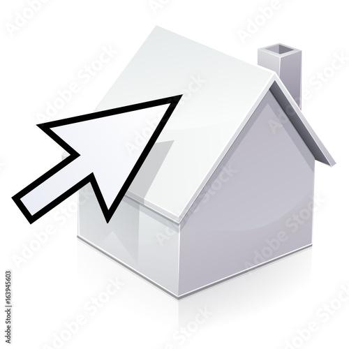 Recherche d 39 une maison par internet reflet stock image for Recherche une maison