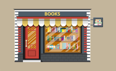 Book shop or store building.