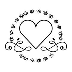 heart decoration isolated icon vector illustration design