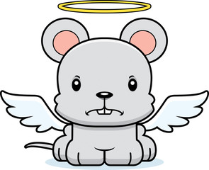 Cartoon Angry Angel Mouse
