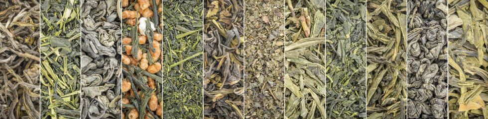 loose leaf green tea collection banner