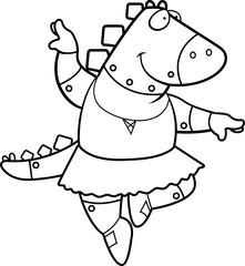 Cartoon Dinosaur Ballerina Robot