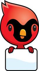 Cartoon Baby Cardinal Sign