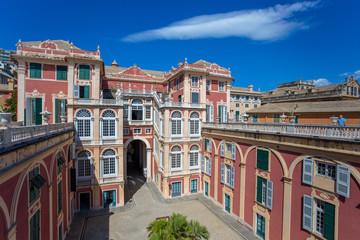 GENOA (GENOVA), JULY, 2, 2017 -  Palazzo Reale in Genoa, Italy, The Royal Palace,  in the italian city of Genoa, UNESCO World Heritage Site, Italy.