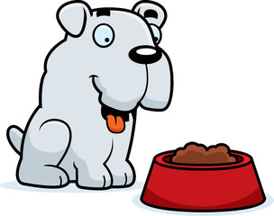 Cartoon Bulldog Food