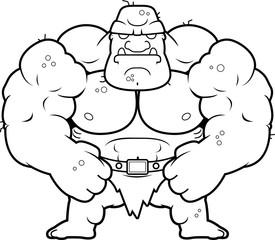 Cartoon Ogre Flexing