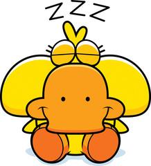 Cartoon Duckling Napping