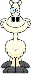 Smiling Cartoon Llama