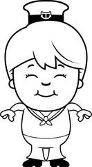 Smiling Cartoon Sailor