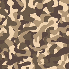 Seamless camouflage pattern. Fashionable camouflage pattern, vector illustration.Millatry print .Seamless vector wallpaper