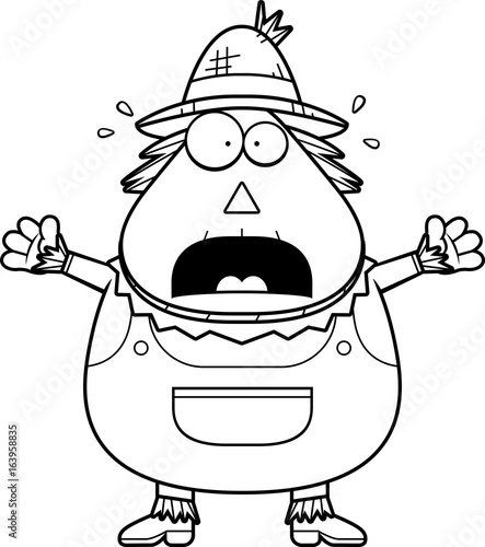 Scared Cartoon Scarecrow Stock Image And Royalty Free Vector Files